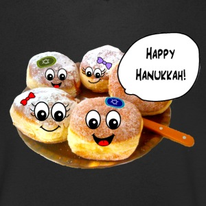 Happy Hanukkah cute doughnuts T-Shirts - Men's V-Neck T-Shirt