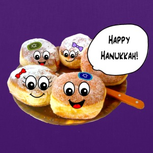 Happy Hanukkah cute doughnuts Bags  - Tote Bag