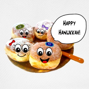 Happy Hanukkah cute doughnuts Caps & Hats - Baseball Cap