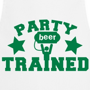 party trained holding up a beer keg! with stars  Aprons - Cooking Apron