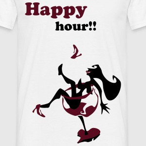Wine Glass Sexy Woman - Happy Hour - Men's T-Shirt