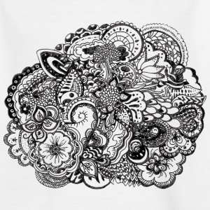Black and white pen and ink doodle Shirts - Kids' T-Shirt
