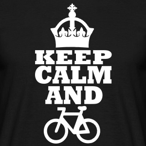 keep calm and drive bicycle T-Shirts - Männer T-Shirt