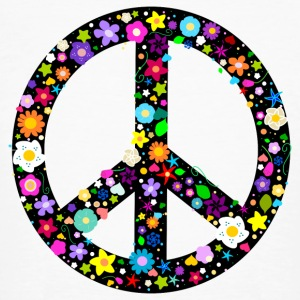 Flower Peace Sign T-Shirts - Men's Organic T-shirt