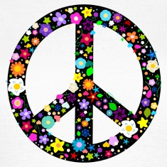 Flower Peace Sign T-Shirts