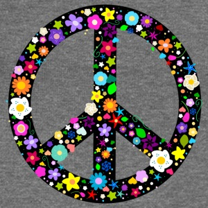 Flower Peace Sign Hoodies & Sweatshirts - Women's Boat Neck Long Sleeve Top
