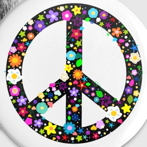 Flower Peace Sign Buttons - Buttons large 56 mm