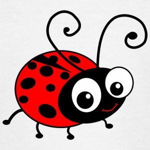Cute Happy Cartoon Ladybug Shirts - Teenage T-shirt