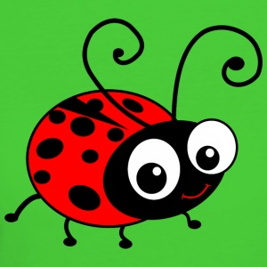 Cute Happy Cartoon Ladybug T-Shirts - Women's Organic T-shirt