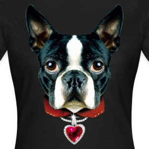 02 Boston Terrier I LOVE Heart Herz Liebe T-Shirts - Women's T-Shirt