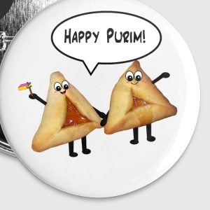 Happy Purim hamantaschen Buttons - Buttons medium 32 mm