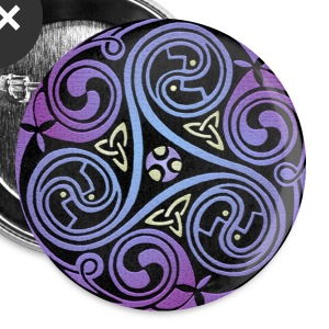 Celtic Spiral #1 Buttons - Buttons large 56 mm