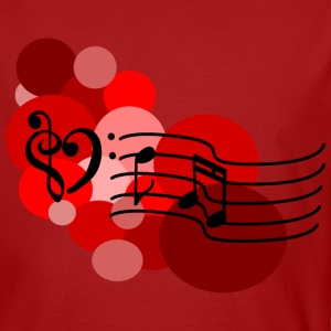 Red Music notes and polka dots T-Shirts - Men's Organic T-shirt