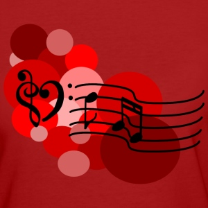 Red Music notes and polka dots T-Shirts - Women's Organic T-shirt