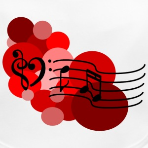 Red Music notes and polka dots Accessories - Baby Organic Bib