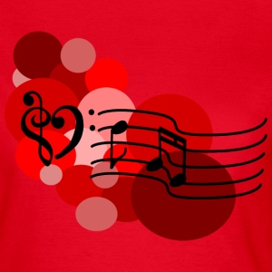 Red Music notes and polka dots T-Shirts - Women's T-Shirt