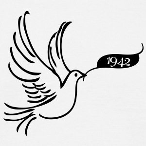 Peace dove with year 1942 T-Shirts - Men's T-Shirt