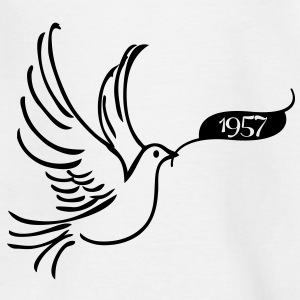 World pigeon with an annual number 1957 Shirts - Kids' T-Shirt