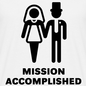 Mission Accomplished, New (Hochzeit) T-Shirt - Men's T-Shirt