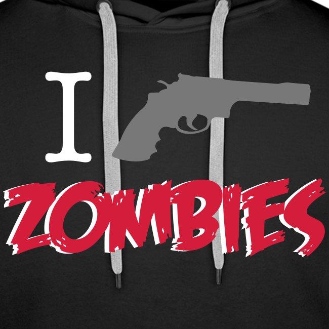 I shot zombies sudadera chico