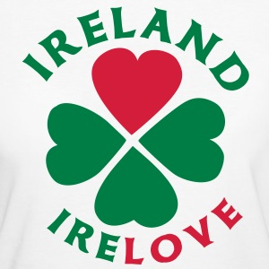 Ireland Love T-Shirts - Frauen Bio-T-Shirt