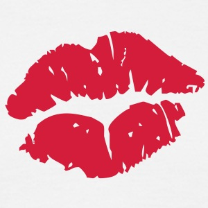 Kissing Lips T-shirts - Mannen T-shirt