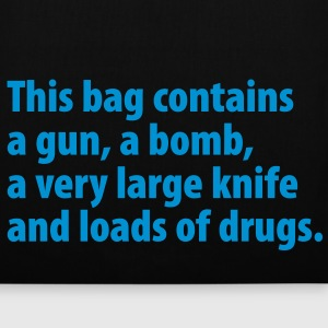 This bag contains a gun, … - Stoffbeutel