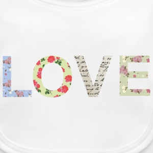 Shabby Chic Love Typography Accessories - Baby Organic Bib
