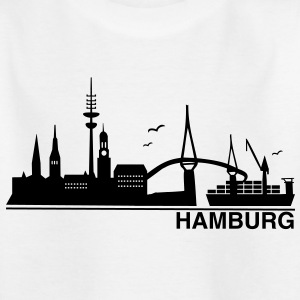 Hamburg Skyline - Kinder T-Shirt