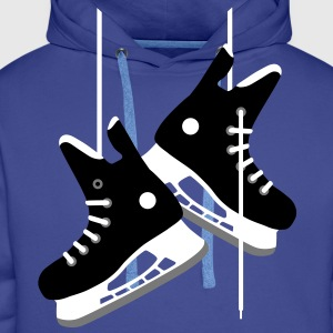 Ice hockey skates Hoodies & Sweatshirts - Men's Premium Hoodie