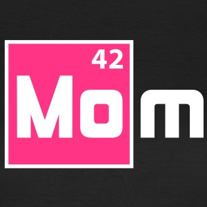MOM - Mother Periodic Elements Design T-Shirt Blac - T-shirt dam