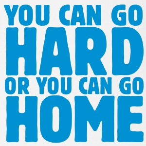 you can go hard or you can go home 1c T-shirts - Kortærmet babybody, økologisk bomuld