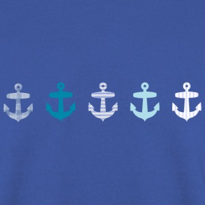 Nautical Blue Anchors Design Hoodies & Sweatshirts - Men's Sweatshirt