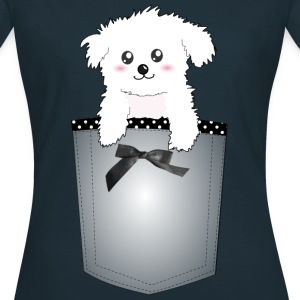 Cute Pocket Puppy Dog T-Shirts - Women's T-Shirt