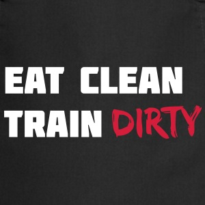 Eat clean. Train dirty. Fartuchy - Fartuch kuchenny