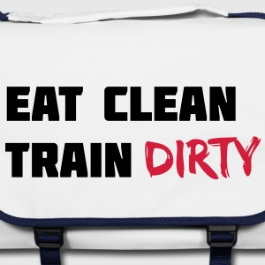 Eat clean. Train dirty. bolsas - Bolso de bandolera