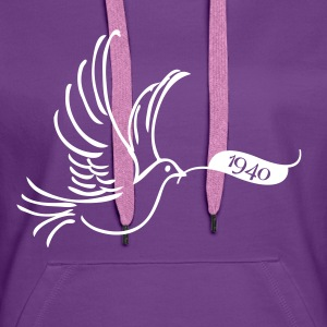 Peace dove with year 1940 Hoodies & Sweatshirts - Women's Premium Hoodie