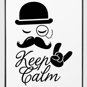 Lustige keep calm like a moustache boss t-shirts Sonstige - iPhone 4/4s Hard Case