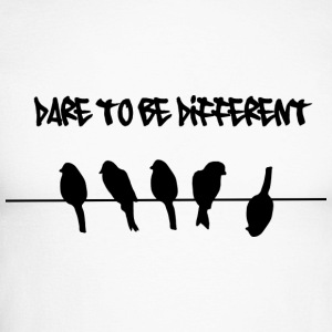 Dare to be Different Birds on a wire Long sleeve shirts - Men's Long Sleeve Baseball T-Shirt
