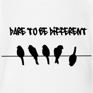 Dare to be Different Birds on a wire Shirts - Organic Short-sleeved Baby Bodysuit