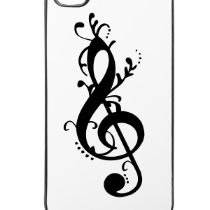 Notenschlüssel verschnörkelt - iPhone 4/4s Hard Case