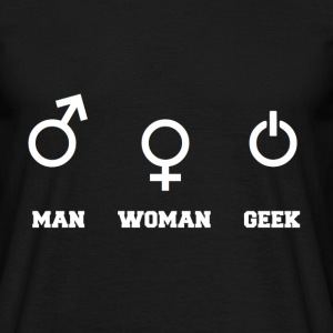 Man - Woman - Geek - T-shirt Homme