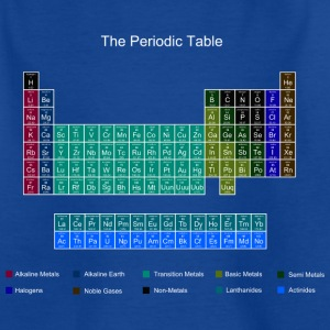 Blue Stylish Periodic Table of Elements Shirts - Teenage T-shirt