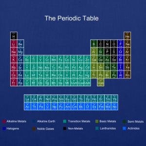 Blue Stylish Periodic Table of Elements Bags  - Tote Bag