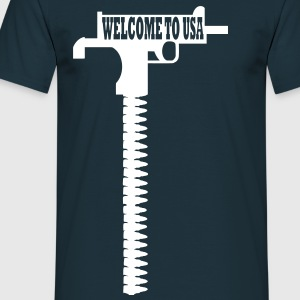 welcome to usa T-Shirts - Männer T-Shirt