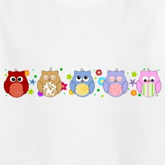 Cute Owls and flowers Shirts