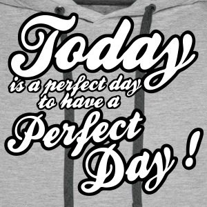 today is a perfect day Gensere - Premium hettegenser for menn