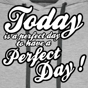 today is a perfect day Bluzy - Bluza męska Premium z kapturem