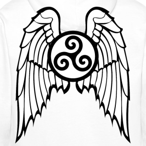 Breizh triskel angel Hoodies & Sweatshirts - Men's Premium Hoodie