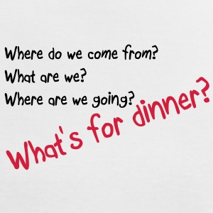 What's for dinner Tee shirts - T-shirt contraste Femme